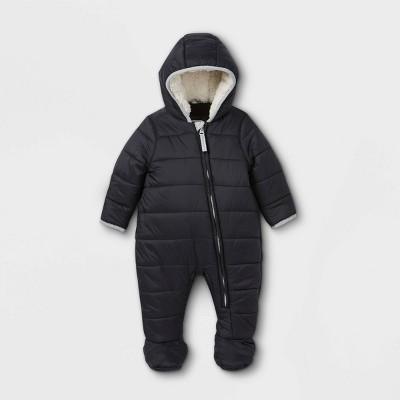 Baby Puffer Snowsuit - Cat & Jack™ Black