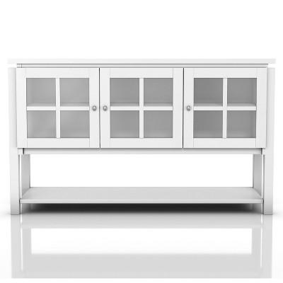 Carita Transitional Windowpane Cabinets Buffet - HOMES: Inside + Out