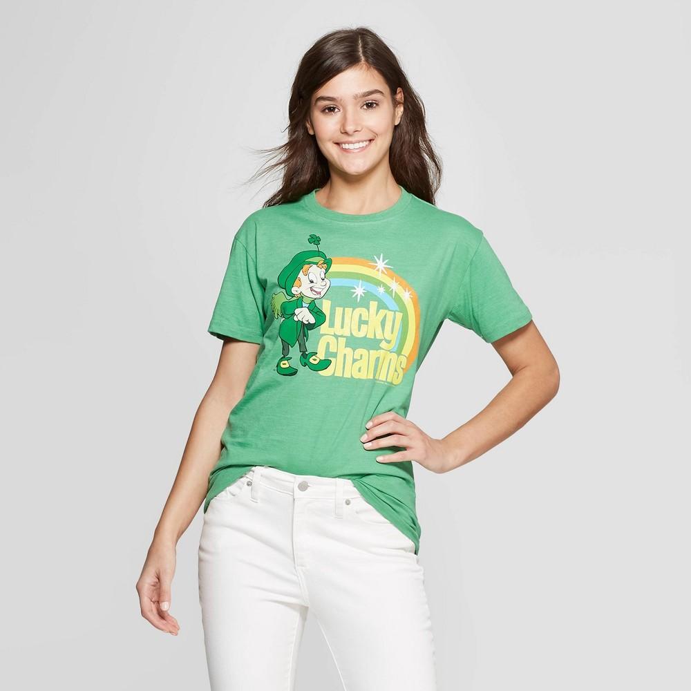 Women's Lucky Charms Short Sleeve T-Shirt (Juniors') - Green Xxl