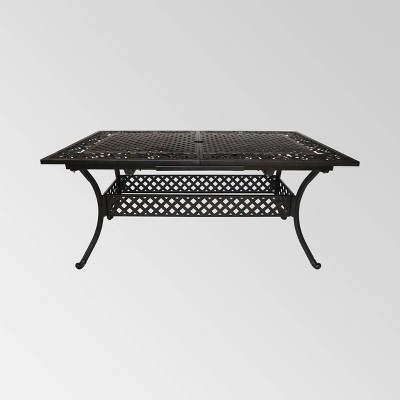 Phoenix Rectangle Aluminum Expandable Patio Dining Table - Copper - Christopher Knight Home