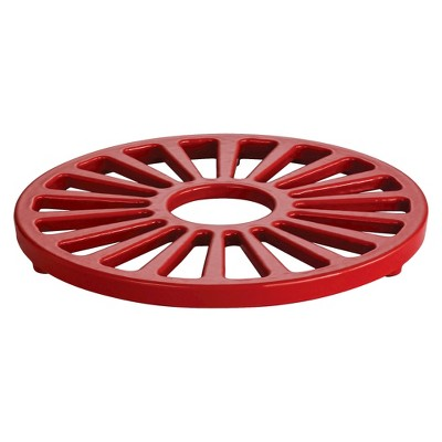Tramontina Cast Iron Trivet - Red