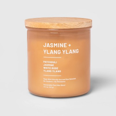 14.5oz Lidded Glass Jar 2-Wick Wellness Candle Jasmine and Ylang Ylang - Project 62™