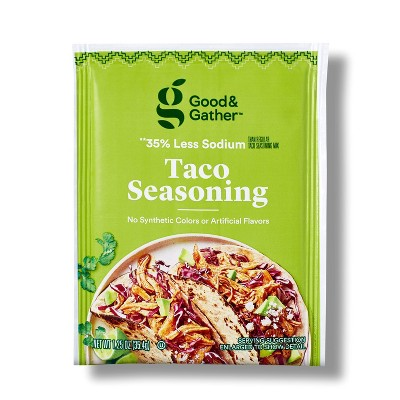 Reduced Sodium Taco Seasoning - 1.25oz - Good & Gather™