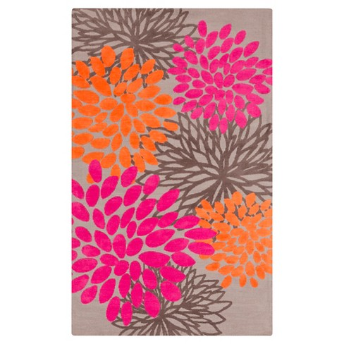Charming Kid's Rug 5'X8' Bright Pink - Surya - image 1 of 1