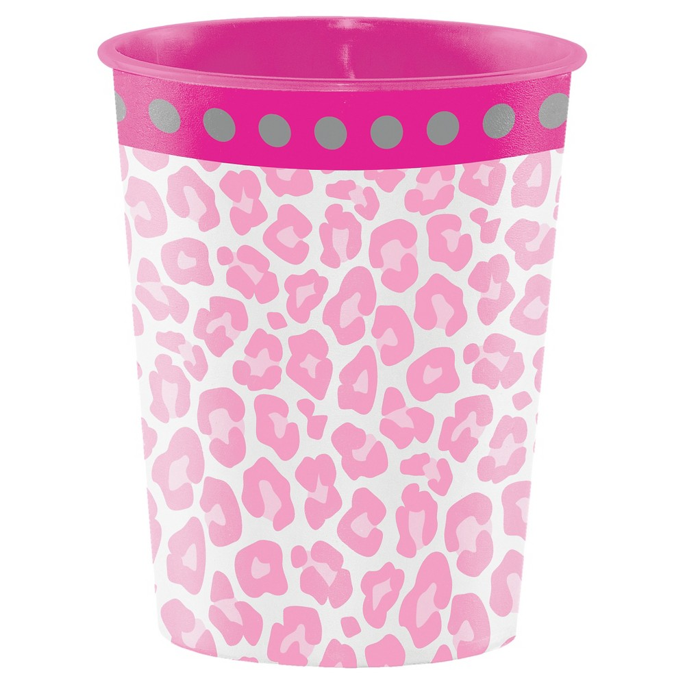Image of Sparkle Spa Party Plastic Keepsake Cup, Pink