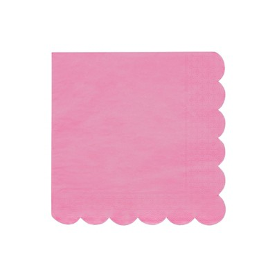 Meri Meri Deep Pink Large Napkins