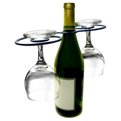 Epicureanist Swirl Wine Bottle & Glass Holder