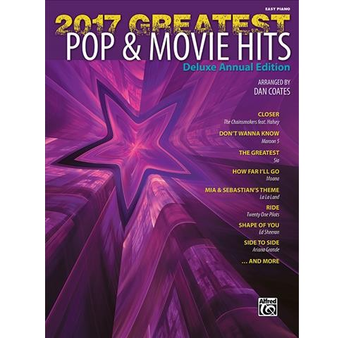 Greatest Pop & Movie Hits 2017 : Easy Piano (Paperback) - image 1 of 1