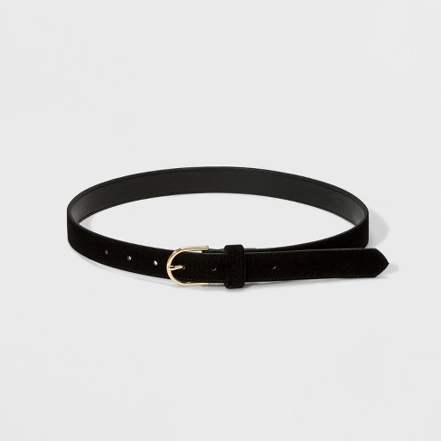 66396cfcfad8 Women s Velvet Belt - A New Day™ Black   Target