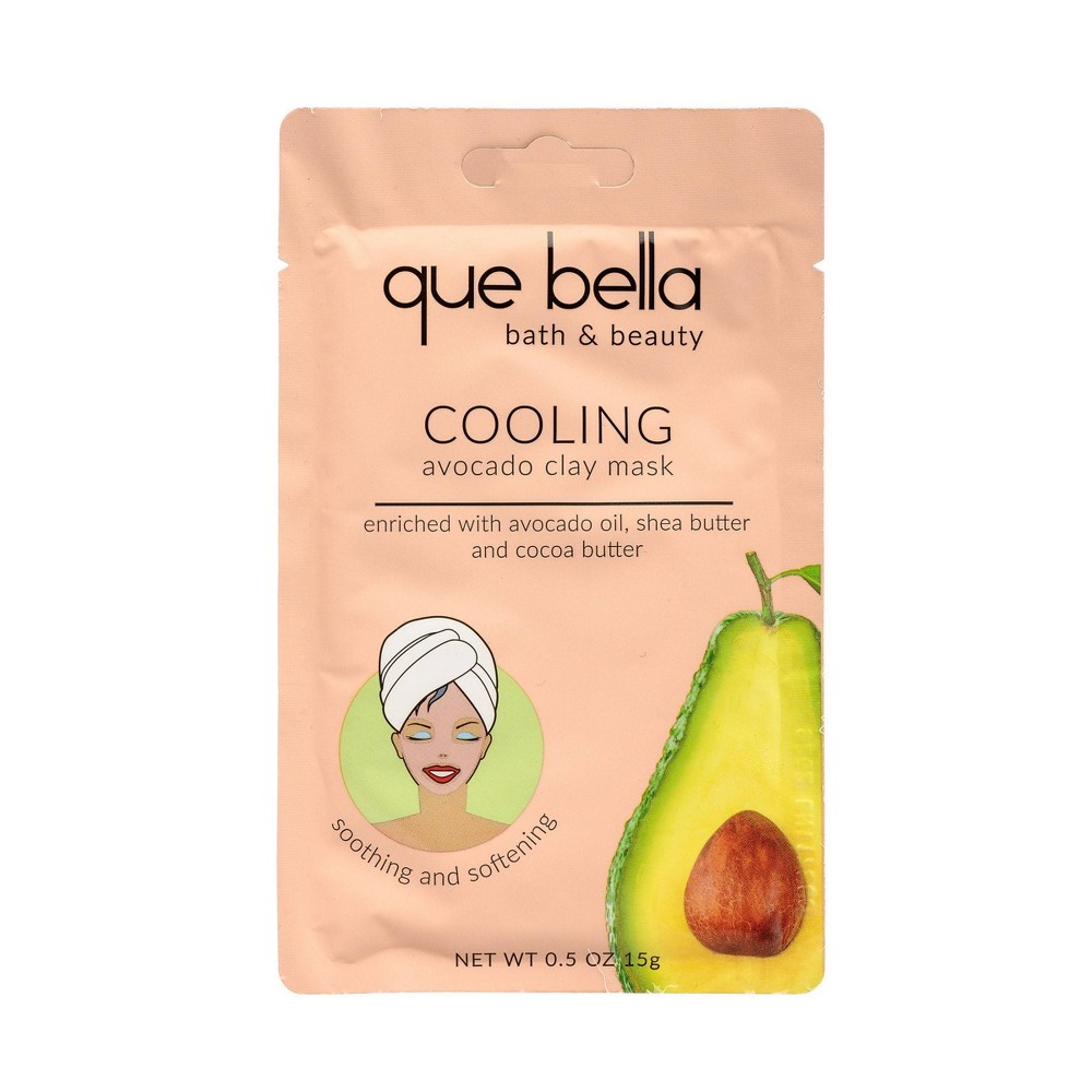 Image of Que Bella Cooling Avocado Clay Mask Facial Treatment - 0.5oz