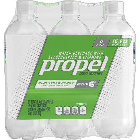 Propel Zero Kiwi Strawberry Nutrient Enhanced Water - 6pk/16.9 fl oz Bottles - image 1 of 10