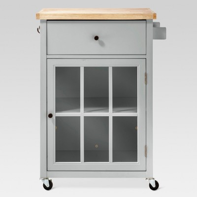 Windham Wood Top Kitchen Cart - Gray - Threshold™