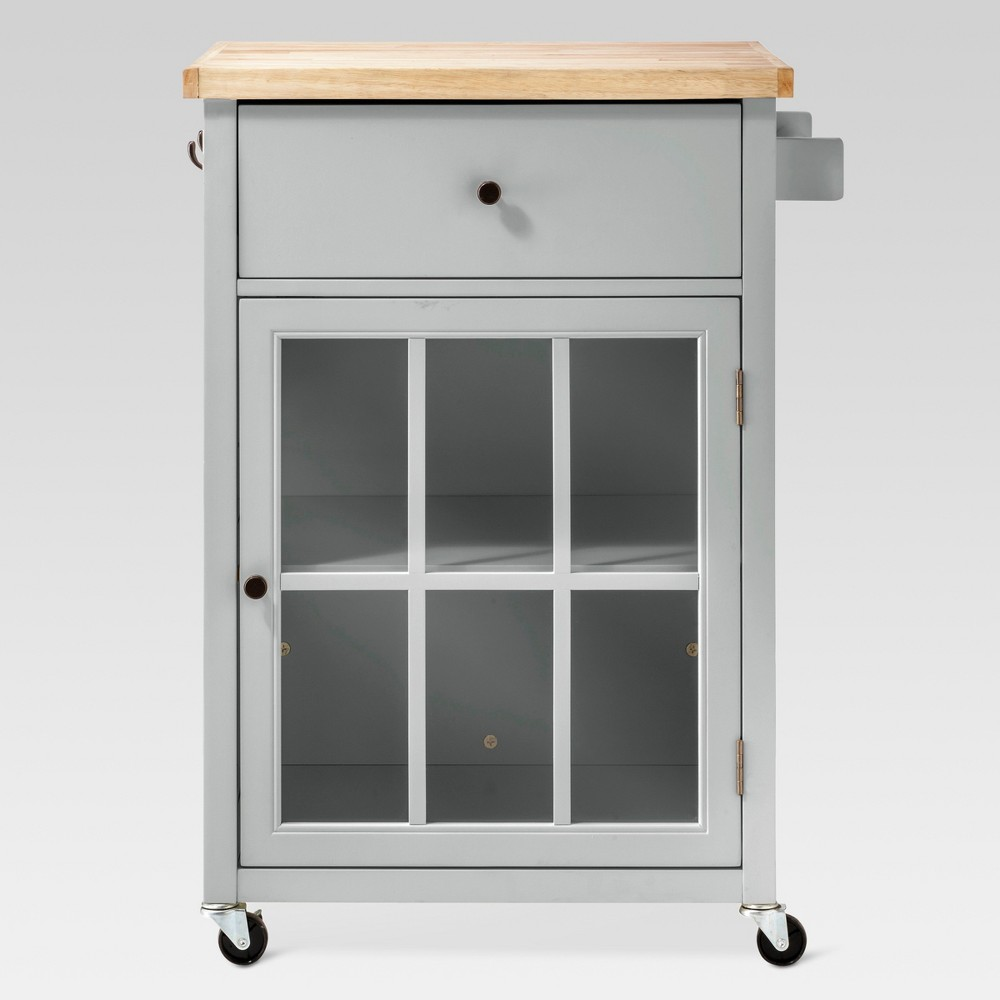 Windham Wood Top Kitchen Cart - Gray - Threshold