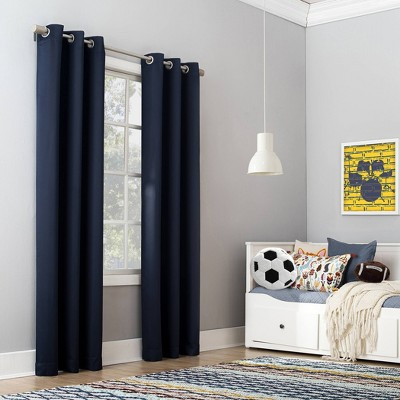 Riley Kids' Bedroom Blackout Grommet Top Curtain Panel - Sun Zero