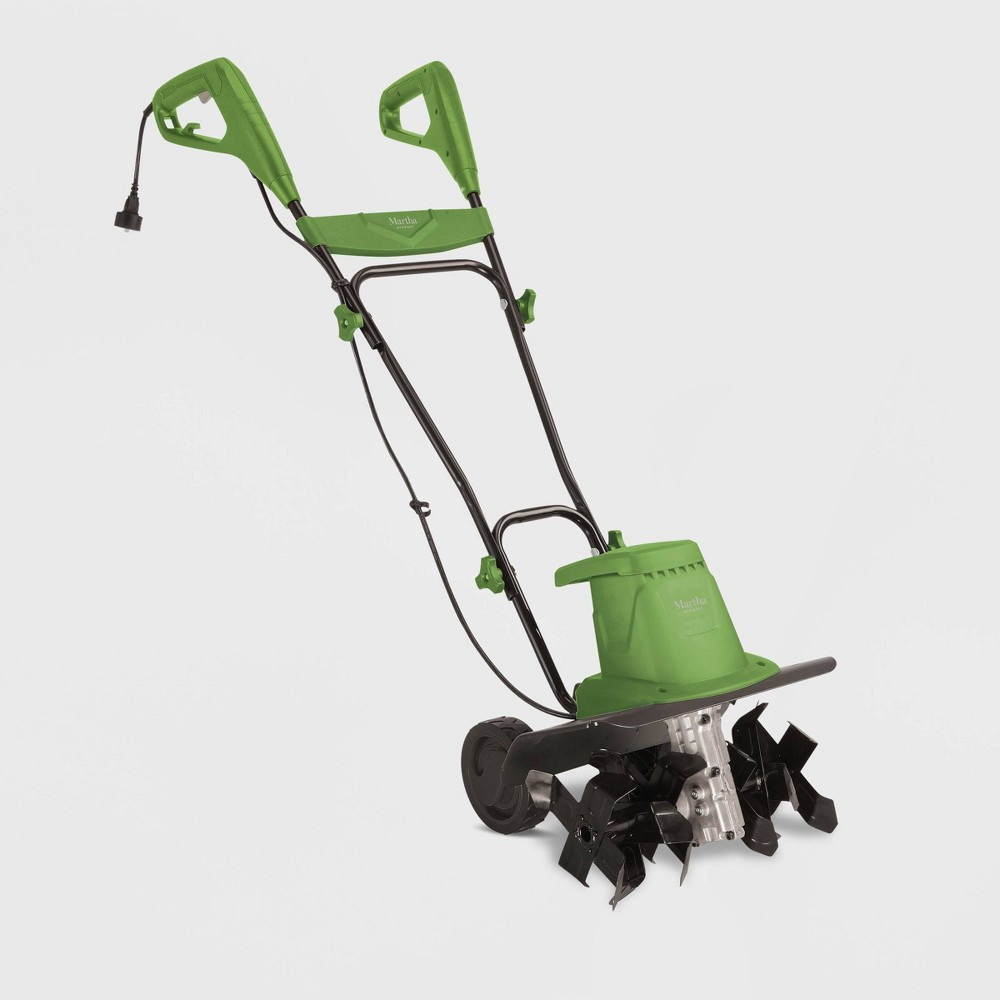 Image of 120V 13.5Amp 16 Electric Garden Tiller/Cultivator Green - Martha Stewart