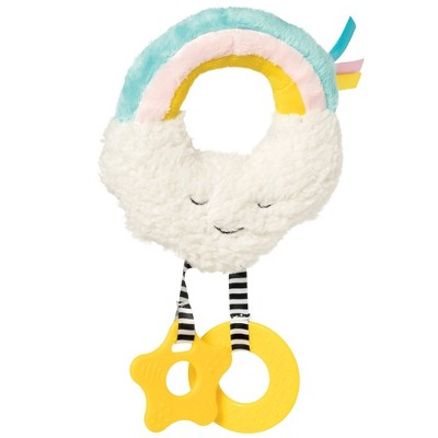 Manhattan Toy Cherry Blossom Days Cloud Baby Circle Rattle with Crinkle Paper and Teethers
