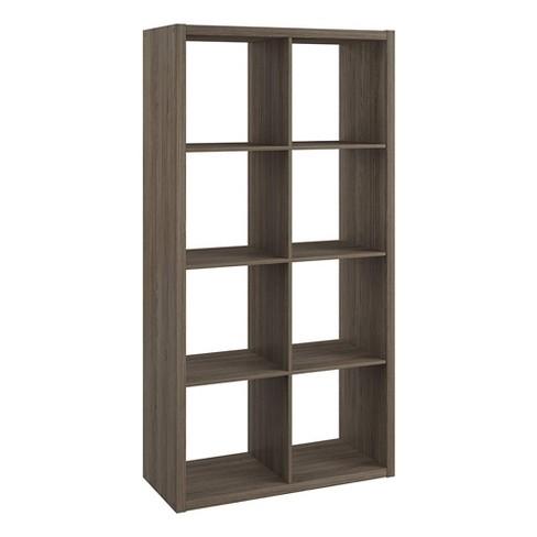 ClosetMaid 4585 Heavy Duty Decorative Bookcase Open Back 8-Cube Storage Organizer, Graphite Gray - image 1 of 4
