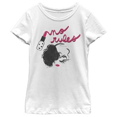 Girl's Cruella No Rules Fashion Sketch T-Shirt