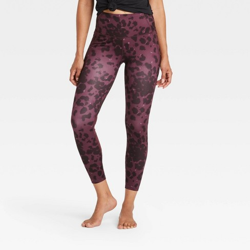 """Women's Leopard Print Contour Power Waist High-Waisted 7/8 Leggings 24"""" - All in Motion™ - image 1 of 4"""