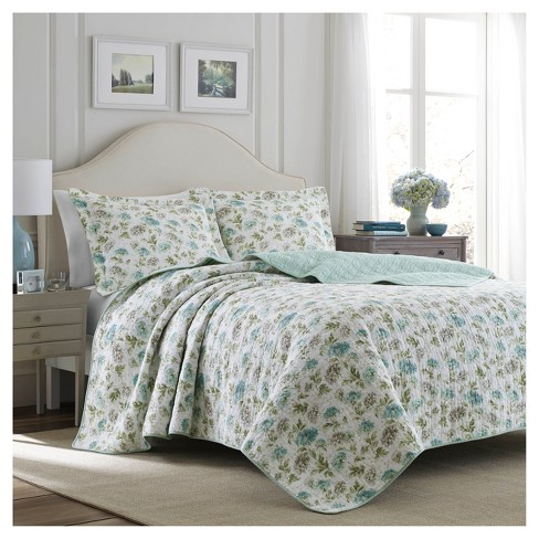 Stone Edwina Quilt Set - Laura Ashley® - image 1 of 3