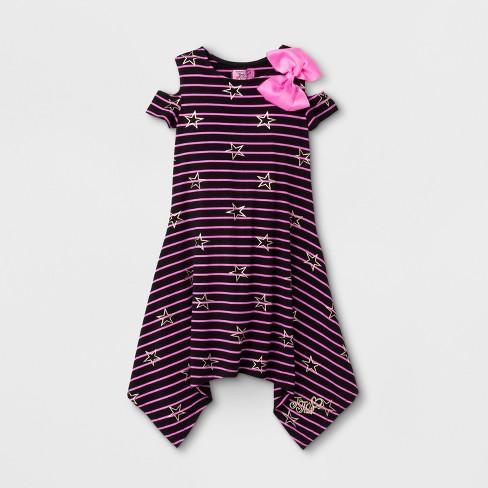 9a43fe1a8cf80 Girls  JoJo Siwa Cold Shoulder Dress - Black   Target