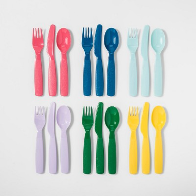 18pc Plastic Kids Silverware Set - Pillowfort™