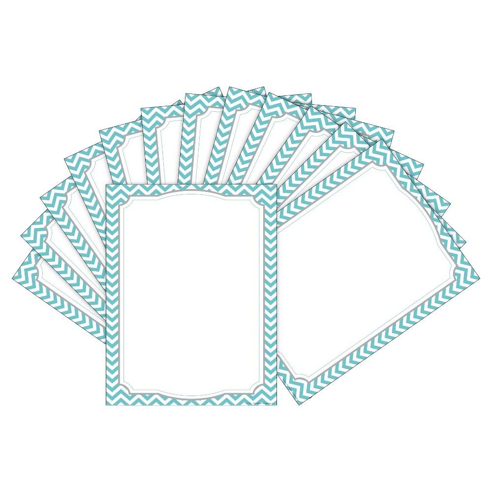 Barker Creek 2pk Printer Paper 100ct - Turquoise Chevron, White