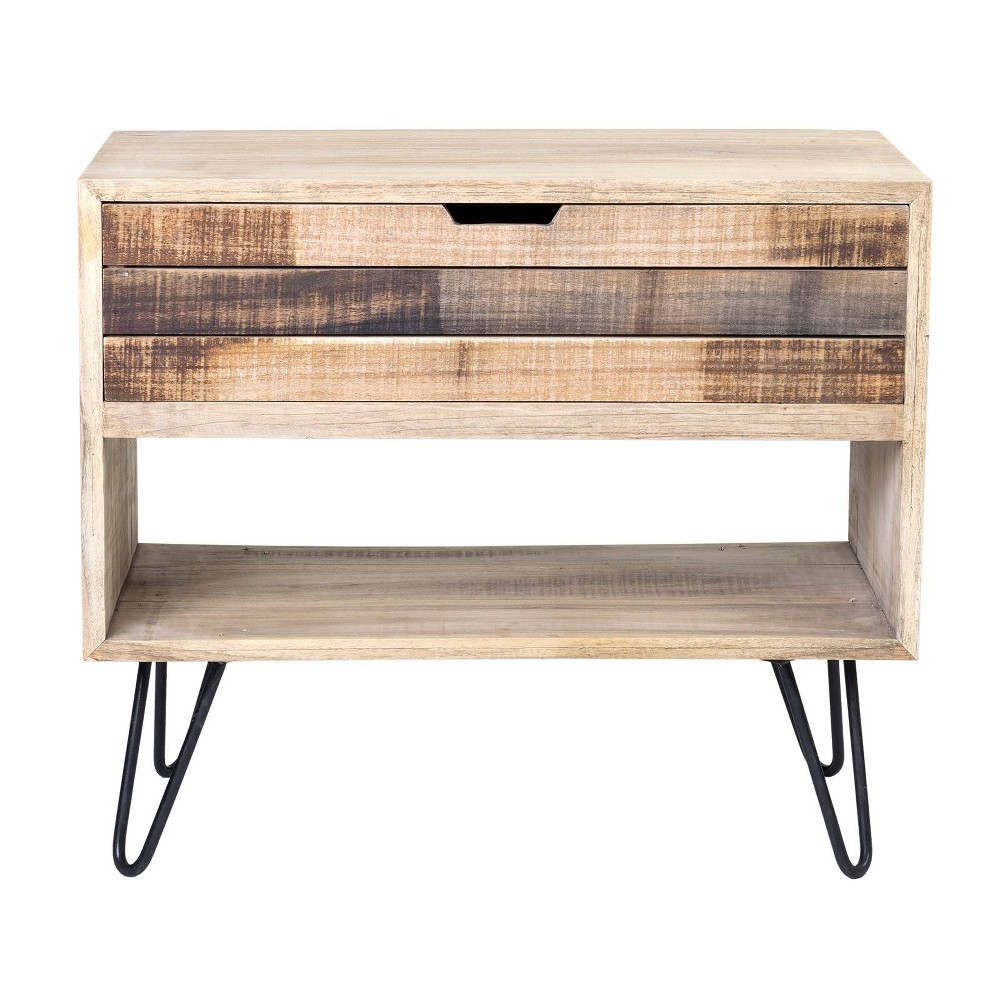Ocilla Mindi Wood Accent Table Brown - East At Main