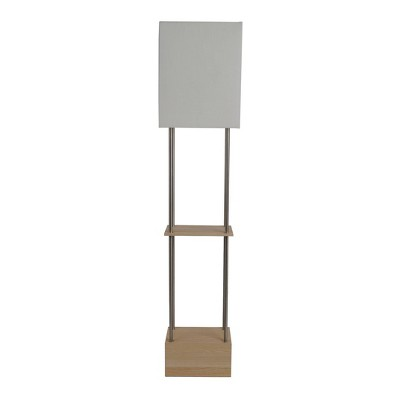 Block Wood Etagere Floor Lamp (Includes LED Light Bulb)Brown - Project 62™