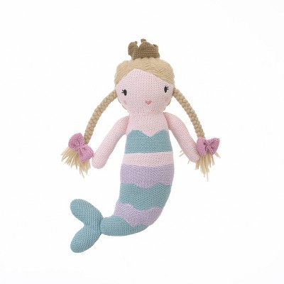 NoJo Cuddle Me Aqua/Lavender Mermaid Knitted Plush Toy - Cassidy