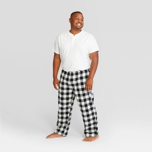 mens plaid holiday buffalo check pajama pants wondershop black