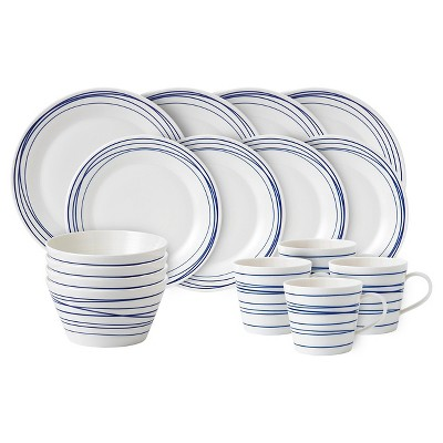 Royal Doulton® Pacific Lines Porcelain 16pc Dinnerware Set White