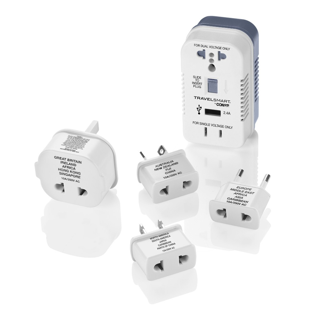Image of Travel Smart 2 Outlet Converter Set w/ USB Port