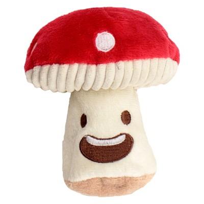 Mushroom Plush Dog Toy Squeaks - Red - S - Boots & Barkley™