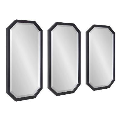 3pc Laverty Wall Mirror Set Black - Kate & Laurel All Things Decor