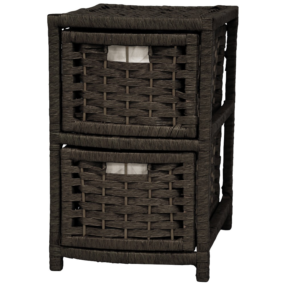 Best Sale Oriental Furniture 17 Fiber Occasional Chest Of Drawers Black