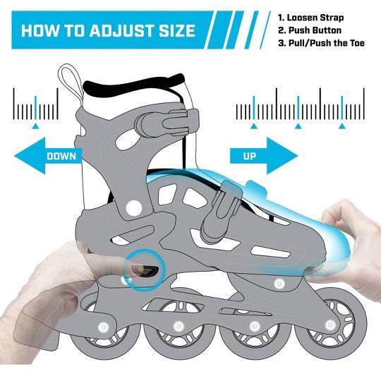 Roller Derby Lomond Girls Adjustable Inline-Quad Combo Skates Size 12-2 - Black image number null