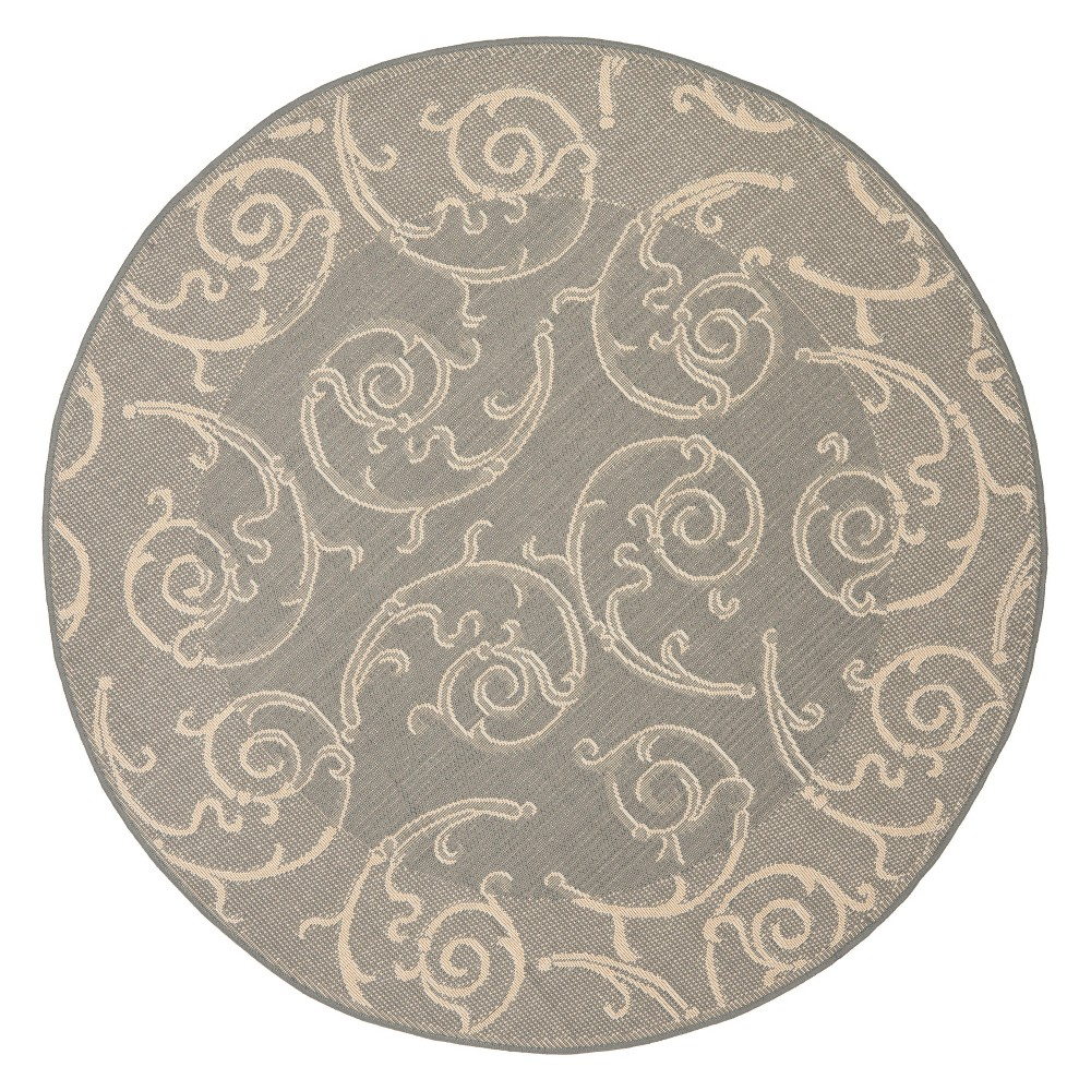 Tribal Area Rug Nate Berkus: Pembrokeshire Round 67 Outer Patio Rug Gray Natural
