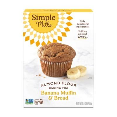 Simple Mills Gluten Free Banana Muffin & Bread Almond Flour Baking Mix - 9oz