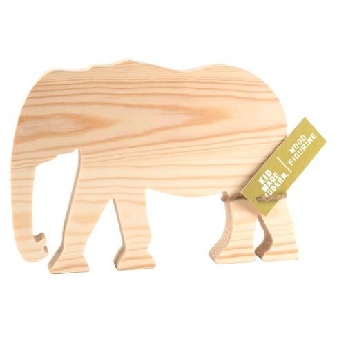 Kid Made Modern Wooden Sculpture - Gorilla or Elephant - image 1 of 2