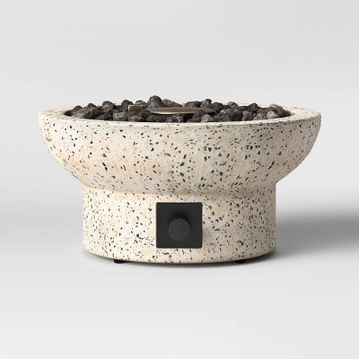 "13"" Terrazzo Propane Tabletop Fireplace - Beige - Project 62™"