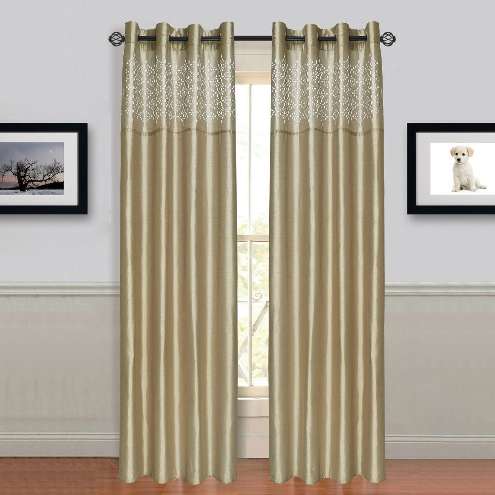 Yorkshire Home Alla Grommet Curtain Panel - Taupe (54