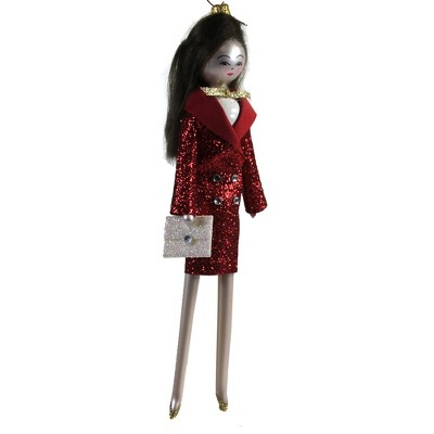 "Italian Ornaments 7.0"" Belinda In Red Tuxedo Dress Ornament Italian Diva Lady  -  Tree Ornaments"
