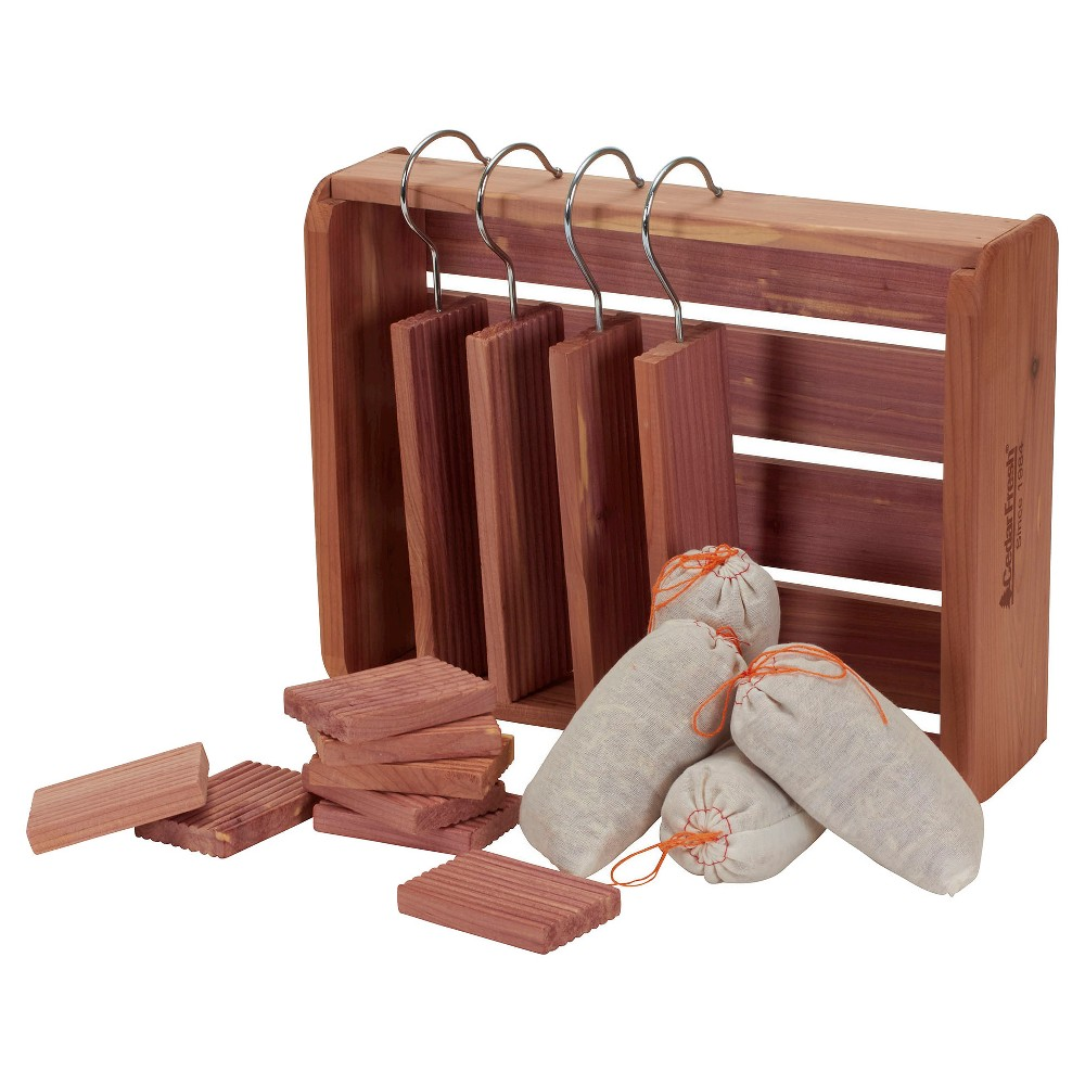 Image of Household Essentials - 16 Pc Cedar Storage Accessory Set Deluxe - Natural, Wood