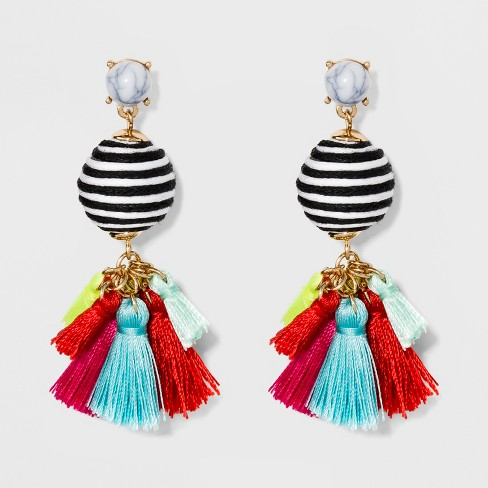 Sugarfix By Baublebar Mixed Media Drop Earrings With Tel