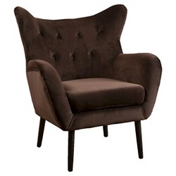 Alyssa New Velvet Arm Chair - Christopher Knight Home
