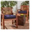 Set of 2 Outdoor Chair Cushion - Navy - Kensington Garden - image 2 of 3