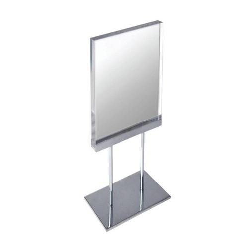 "Azar Displays 8.5"" X5.5"" The Elite Series: Medium Acrylic Block Sign Holder On Chrome Stand - image 1 of 1"