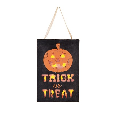 C&F Home LED Trick or Treat Wall Hanger
