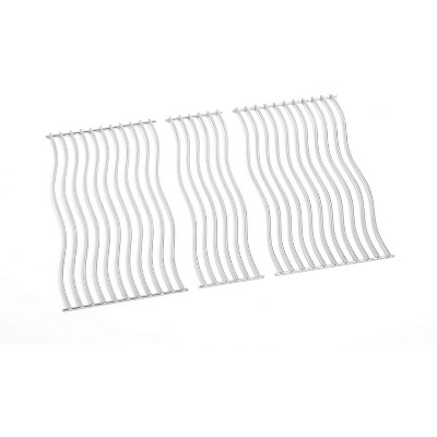 Napoleon S87003 Replacement Nonstick Stainless Steel Waved Cooking Grids for Triumph 410 Grills, Silver (Set of 2)